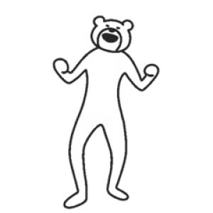 【無料スタンプ速報:隠し無料スタンプ】けたたましく動くクマ スタンプ(2017年09月14日まで)