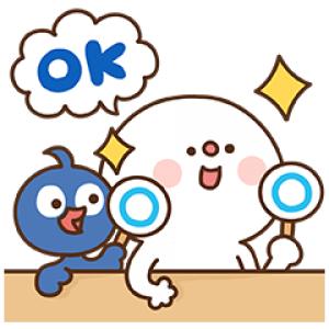 【無料スタンプ速報】だいふく×キューペイ コラボスタンプ(2017年10月16日まで)
